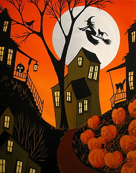 eerie-evening-halloween-witch-art-debbie-criswell